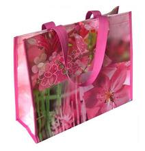 beautiful printing women handbag wholesale pp woven shopping bags