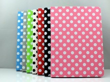 Polka Dots 3 Folding Magnetic Stand PU Leather Cover Case For New iPad Air 5