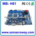 La placa base h61 apoyo 2xddr 3, núcleo i3/i5/i7 procesadores/8*usb 2.0/10*com/16gb ram