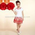 diseño de moda del bordado de encaje chica joven mini falda de venta al por mayor