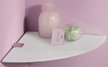 2014 hot sale glass bathroom and living room shelf corner with color shrink shelf made in China