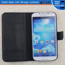 PU Leather Flip Wallet Case for Samsung s4 i9500