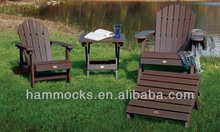 Hamilton Adirondack Chair & Ottoman Set - Weathered Acorn