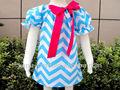 Groß-mode babykleidung Chevron Kleid/smok kleid für die Kinder
