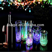 Brand New Dinner mini LED Colorful Flash light Clear Acrylic Wine Beer Drinking Beverage Cup Party