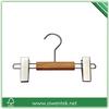 wooden mini hanger, wooden small hanger for kids, baby wooden hanger with clips