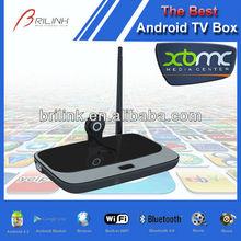 Quad Core Google Android TV Box Support Camera 2M/5M 2GB RAM 8GB ROM Built-in BT 4.0 Smart Box TV Skype, Yes Original TV Box