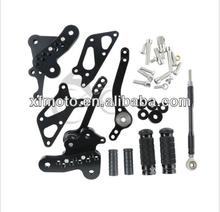 Black CNC Front Foot pegs set For Suzuki GSXR1300 Hayabusa 2008-2013 09 10 11 12