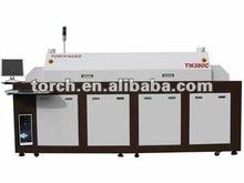 Tn380c rifusione forno di saldatura/senza piombo rifusione forno smt aria calda di saldatura saldatura reflow con 8 riscaldamento- zone