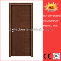 SC-W042 Modern style teak wood main door designs