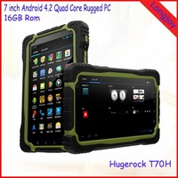 Shenzhen Best 7 Inch MT6589T Quad core 3G Rugged Tablet Pc Hugerock T70H With GPS WIFI Bluetooth