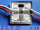 DC24V WS2801 DIGITAL RGB PIXEL Module,4PCS waterproof PIXEL LED MODULE#LED-LY-FTD35-4RGB5050