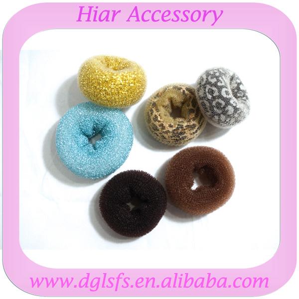 blue black brown gold leopard hair donut