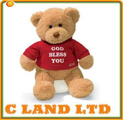 High quality 2014 plush T-shirt teddy bear toy