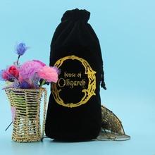 Bottom price new products custom cheap black velvet wine bag