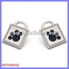made in china Stainless steel dog tag id metal luggage tags with leather strap