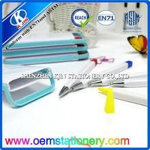 2014 13.5cm promotional plastic ball pen set