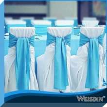WEISDIN hot sale durable cheap wedding chair cover pattern sky blue chair sash