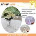 decorativa barato toalha de mesa oilproof pvc resistente ao calor do laço mesa capas