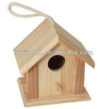 2015 color natural de madera birdhouse en venta, promoción y el regalo birdhouse