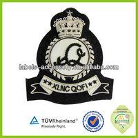 Hand Bullion Wire Badges custom blazer patch embroidery