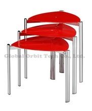 Modern Glass Nesting Table