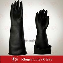 the black gloves Black Industrial Latex gloveLatex Glove rubber glove industry