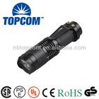 led q5 cree 7w zoomable 300 lumen 14500 AA cree q5 flashlight
