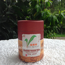 Custom round/empty/airtight/disposable empty paper tin can for tea packing