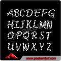 schönen alphabet schmuck mit strass und kristalle