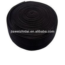 25mm Soft Black jacquard elastic webbing band for heavy duty