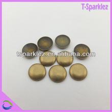 Flat metal nailhead studs for fabric decor