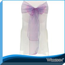 WEISDIN durable high quality cheap wedding chair cover and organza sash