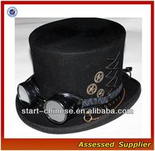 ZD180 STEAMPUNK VICTORIAN GOTHIC Genuine Wool Mens TOP HAT