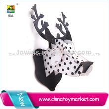 2014 cotowins deer head 3d wooden puzzle kit 3d wooden puzzle animal