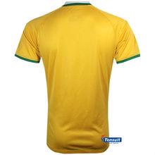 2014 new football t-shirt , grade ori world cup Brazil home soccer jersey ,china football shirt wholesale