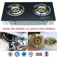 New Model glass top 2 burner gas cooker (RD-GD002-13)