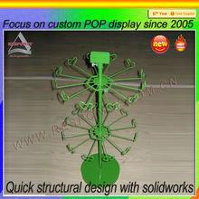 Custom metal display rack, metal hooks accessories display stand