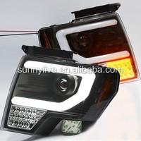 Full LED turn signal light For FORD F150 Raptor LED Strip Headlights Head Lamp 2008-2012 Year Black