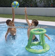 water pool kids play custom pvc pool inflatable basketball hoops