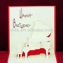 Pop Up happy birthday invitation card