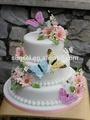5-20cm bướm lông nhân tạo làm bằng tay bướm với nam châm hoặc clip