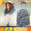 new decent design zebra-stripe Wheeled abs Trolley luggage
