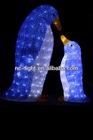3D LED christmas acrylic penguin motif light
