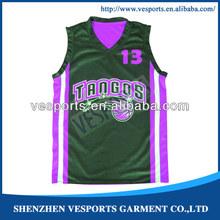 Basketball jersey color purple