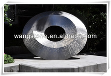 Abstract compass stainless steel metal sculpture for garden