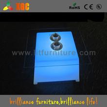 led ottoman table / cube coffee table/ leisure lounge furniture
