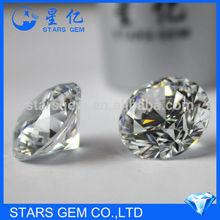 star cut cubic zircon certified loose gemstone