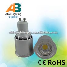 5w gu10 led long neck lamp cob 220v 60 beam angle aluminum body
