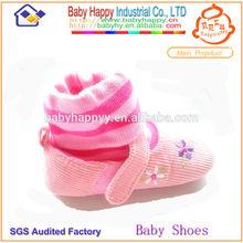 De moda del zapato de bebé calcetines calcetines de bebé